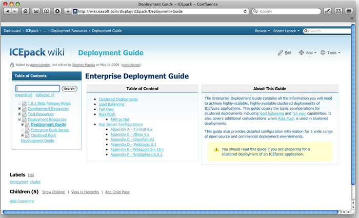 ICEpack Wiki Deployment Guides